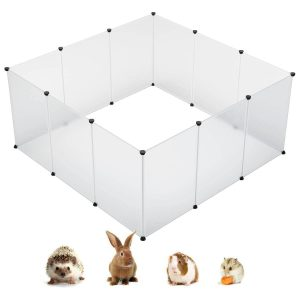 KOUSI Expandable Small Animals Plastic Playpen for Ferrets